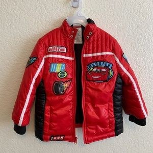 DISNEY CARS lighting mcqueen puffer jacket EUC